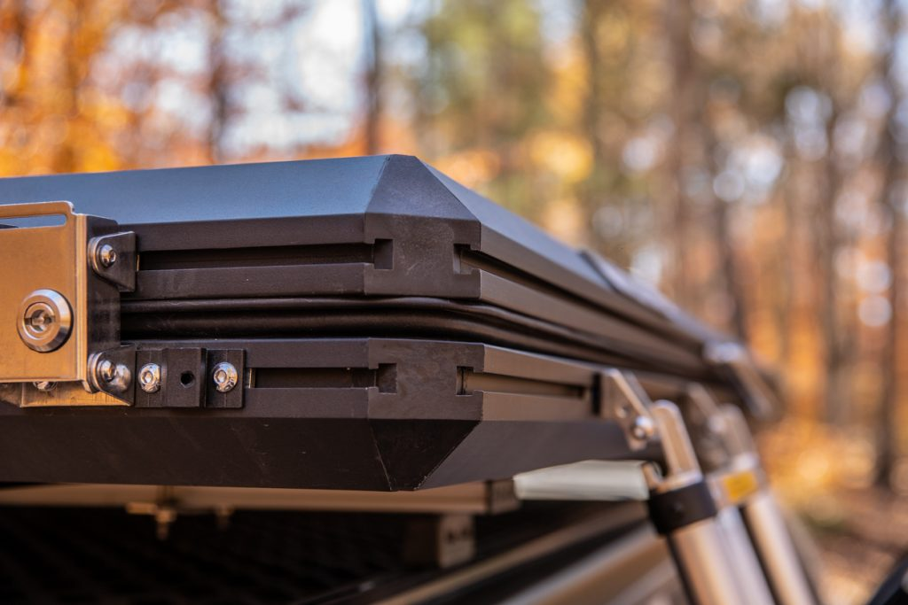 T-Slots/Channels for Mounting Accessories on AreaBFE Hard Shell Rooftop Tent