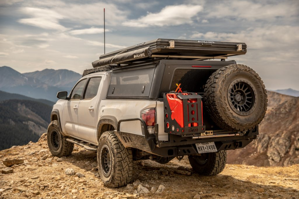 AreaBFE Clamshell Style Rooftop Tent on 3rd Gen Toyota Tacoma