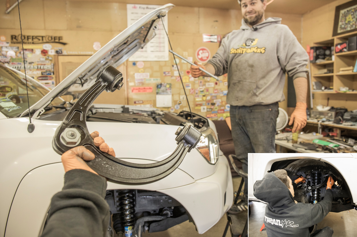 Install New UCAs (Upper Control Arms)