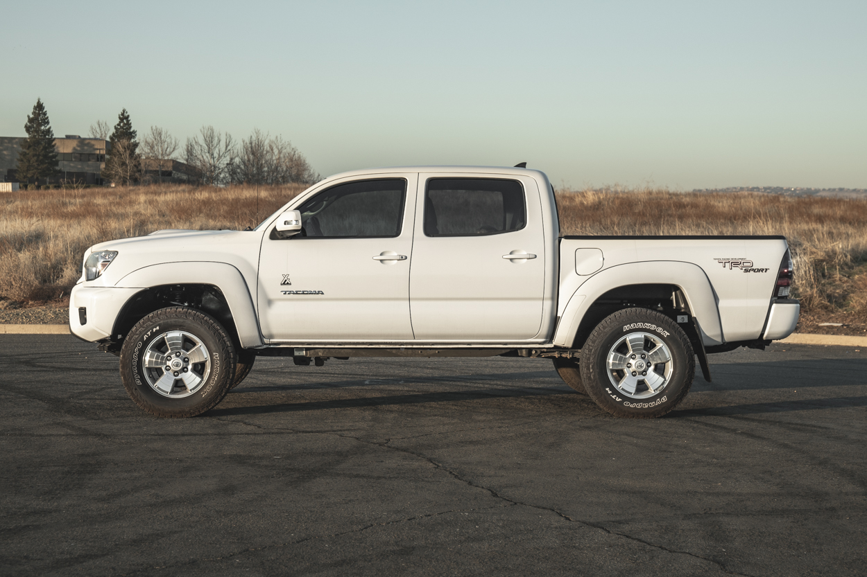 """Bilstein 5100 3"""" (2.8"""") 2nd Gen Tacoma Lift Kit with SPC UCAs (upper control arms) and Icon Add-a-leaf"""