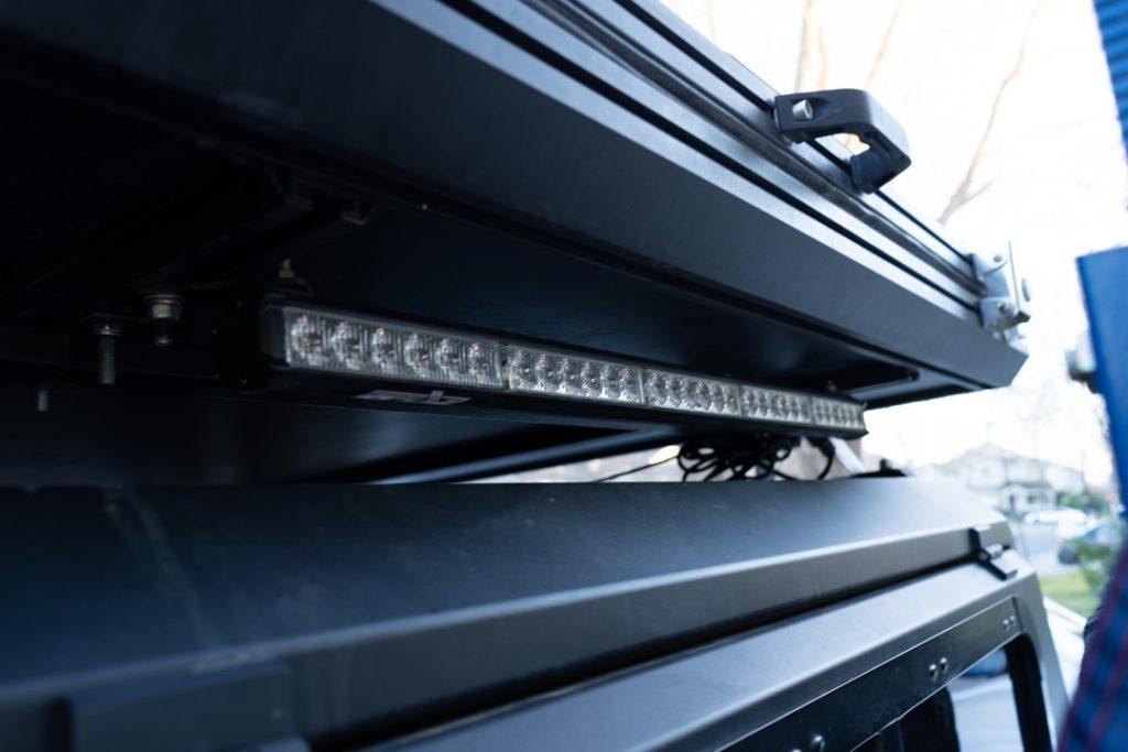 Rear Light Bar Universal LED Chase Light Bar Mounted on AreaBFE Black Series Hard Shell RTT