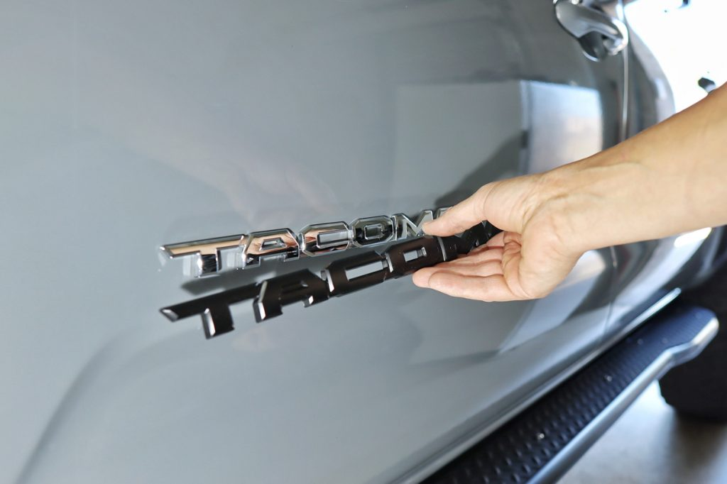 Toyota Pro Shop - Tacoma Black Emblem Overlay Install