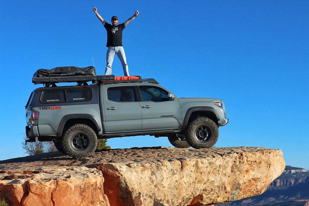 Lifted 3rd Gen Tacoma on Top of The World Trail in Moab, Utah