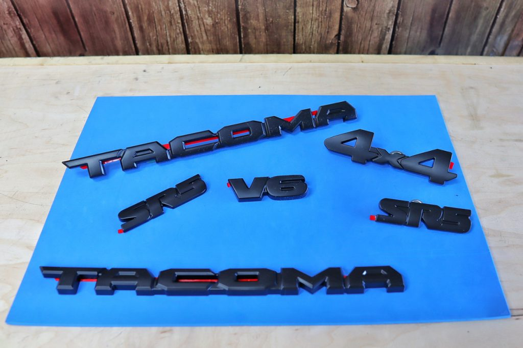 Emblem Blackout Overlay Kit for the 3rd Gen Toyota Tacoma