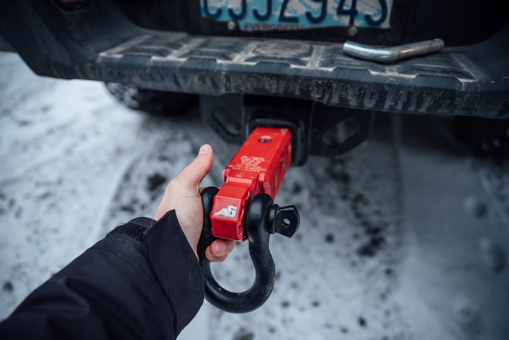 Agency 6 Hitch-Mounted Shackle Block for 3rd Gen Tacoma