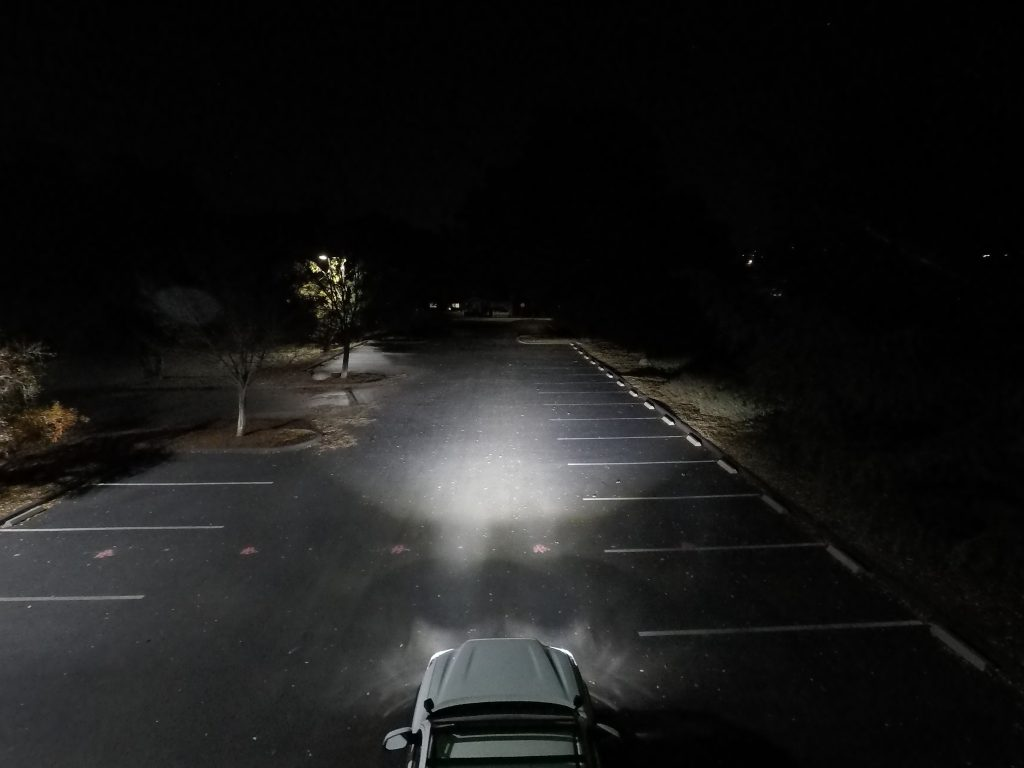VLEDS LED Low Beam Bulb Output for 3rd Gen Toyota Tacoma - Drone Shot