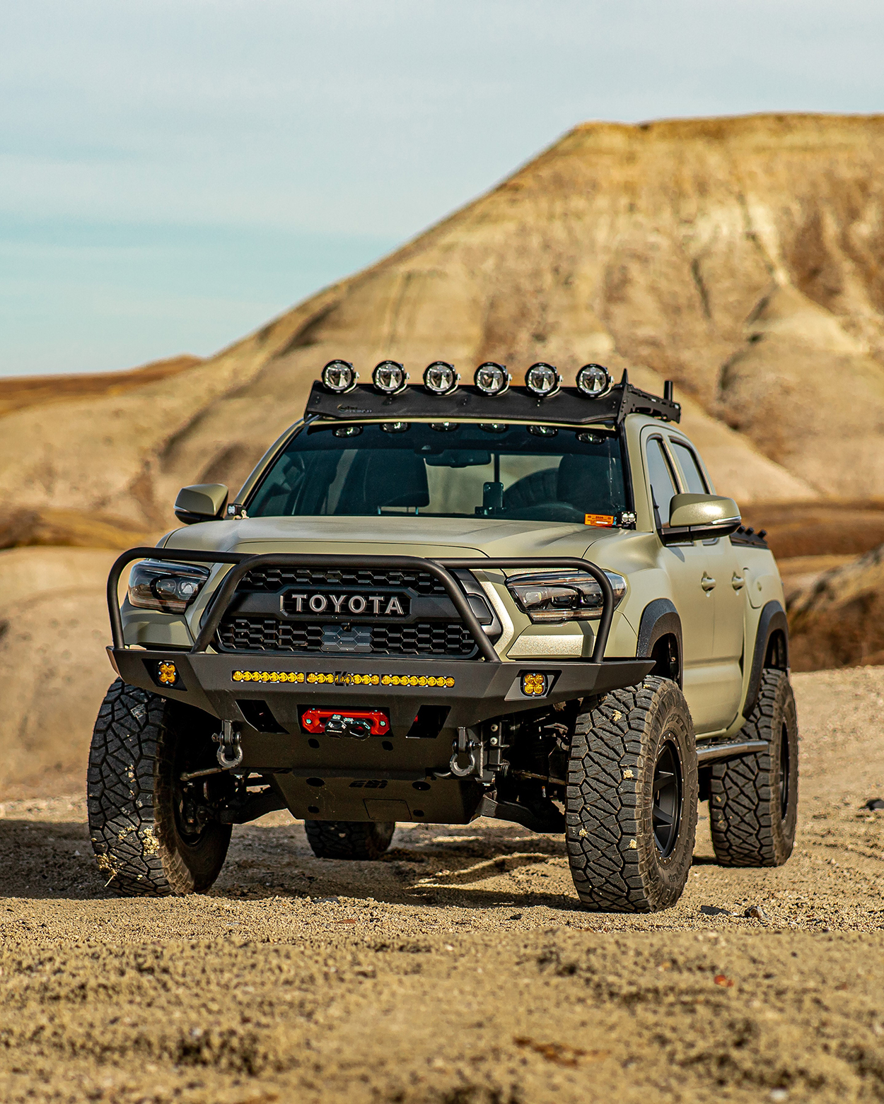 C4 Fabrication Overland Series Front Bumper for the 3rd Gen Tacoma