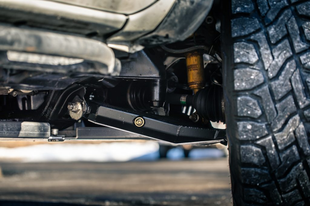 Limit Strap Mounts on Dirt King Performance Lower Control Arm