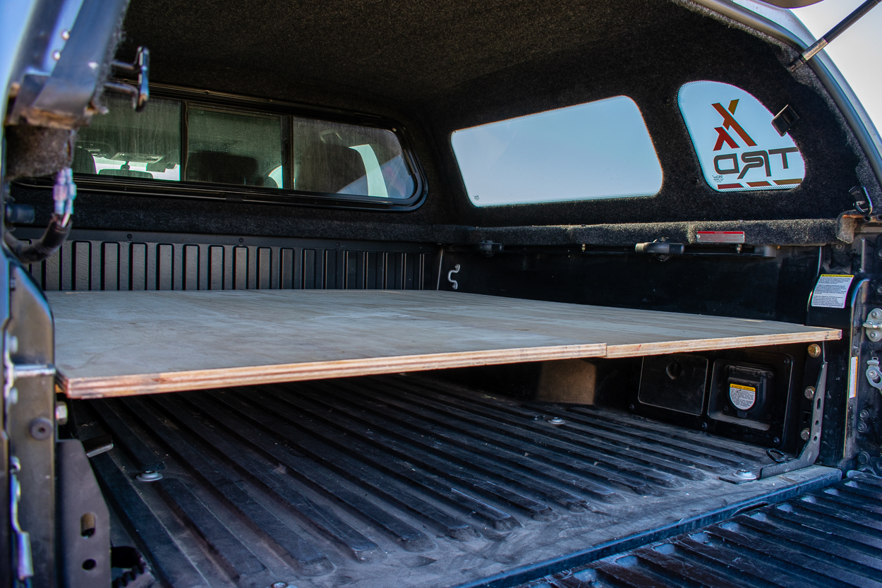DIY Minimalist Truck Shell Bed Sleeping Platform