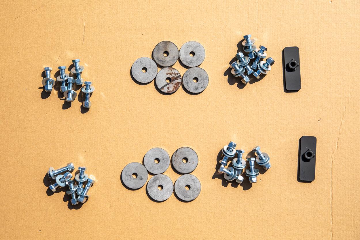 Hardware for Relations Race Wheels Rock Slider Install