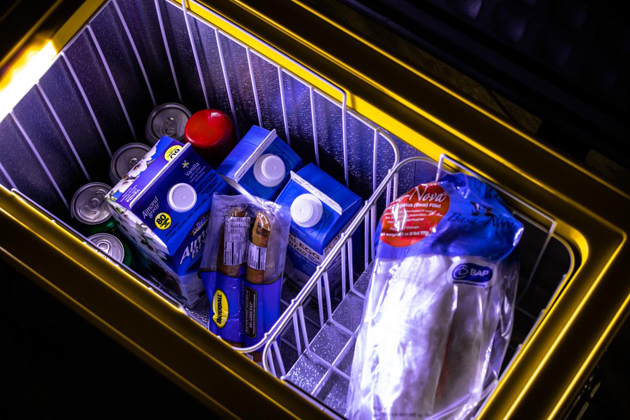 SetPower USA Portable 12V/24V Refrigerator for Camping - Interior Shot