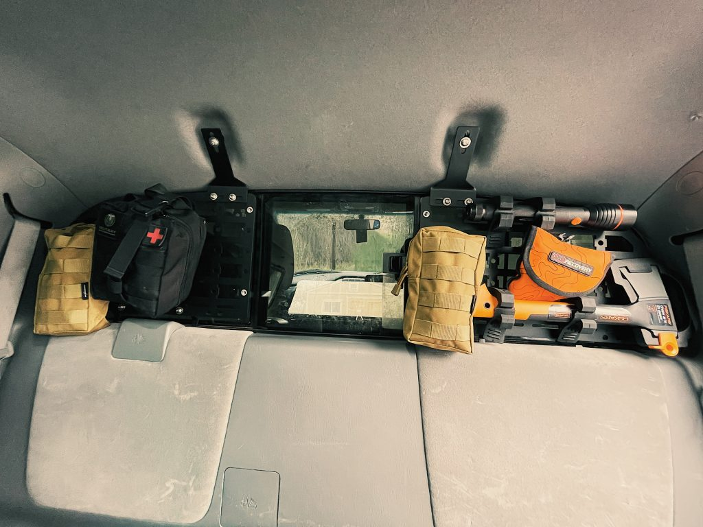 Auxiliary Molle Panel Storage for Rear Window on 2nd Gen Toyota Tacoma