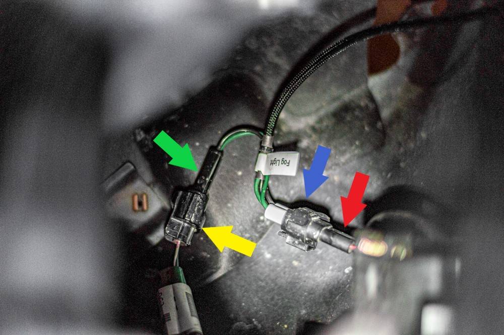 Connecting Brite Box Anytime to Fog Light Harness on Toyota Tacoma