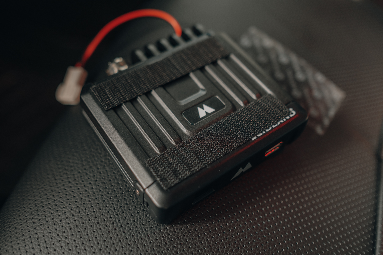 Velcro for Drill-Free Radio Mounting