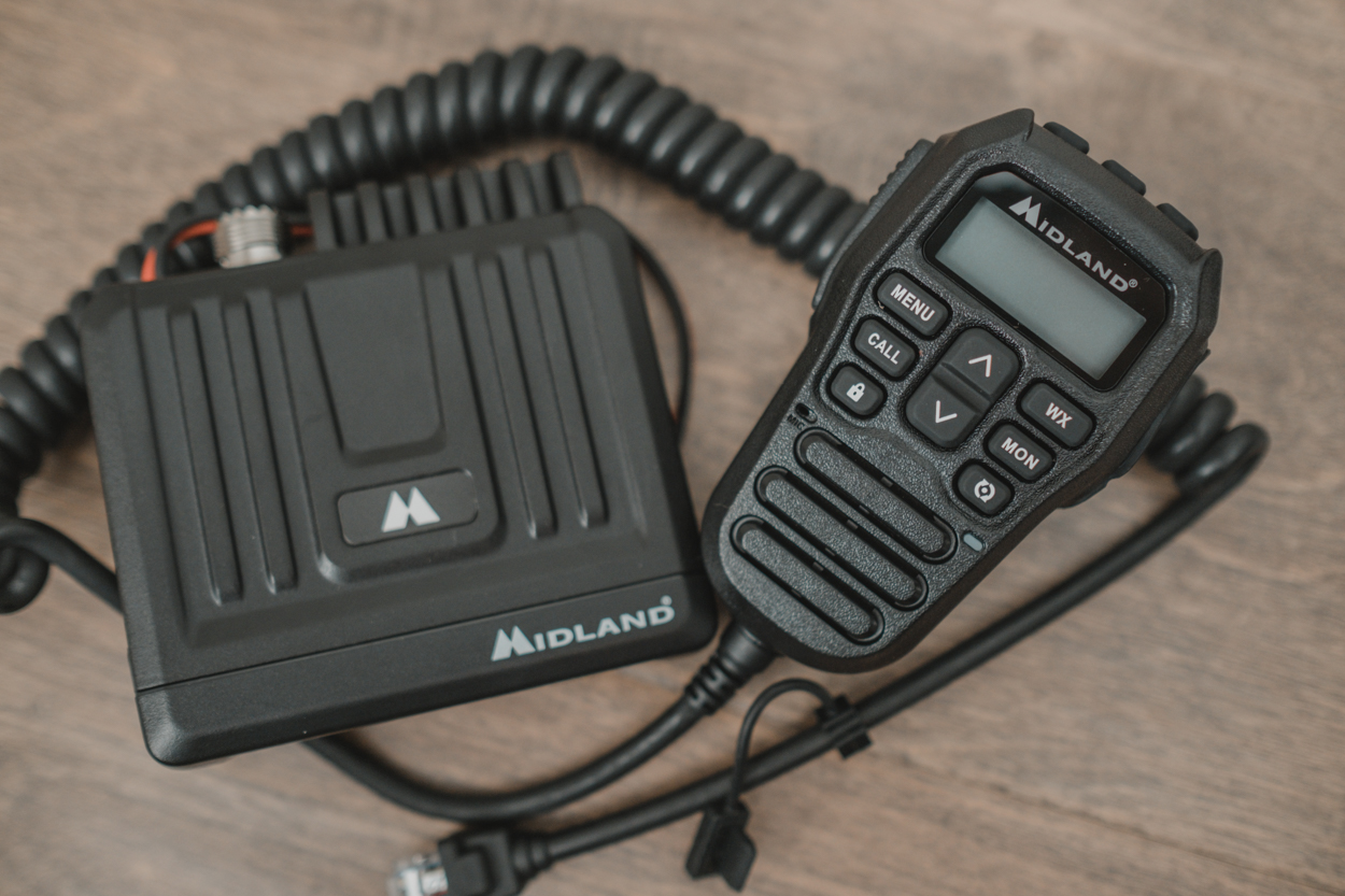 Midland USA MT275 GMRS Radio with Integrated Handheld Microphone