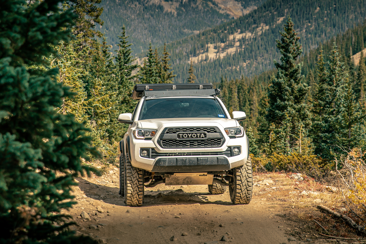 Lifted 3rd Gen Tacoma with Element Aluminum Skid Plates & Toyo Open Country R/T