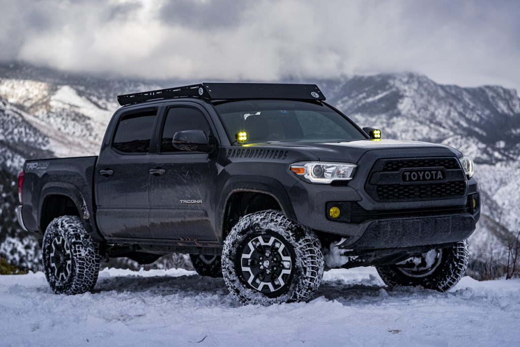 MGM 3rd Gen Tacoma TRD Off-Road on 32-Inch Tires with Amber Ditch Lights & Low Profile Roof Rack