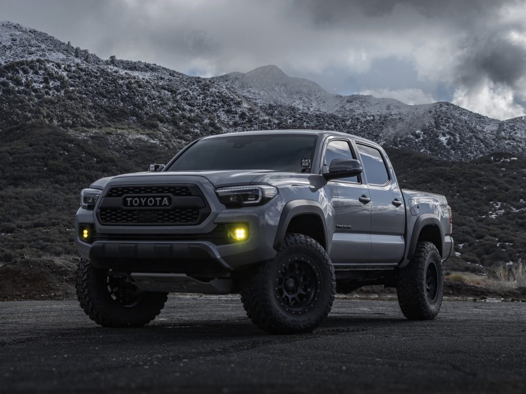 Lifted 3rd Gen Toyota Tacoma TRD Off-Road on 33s with Amber Fog Lights & Stealth Custom Series Wheels