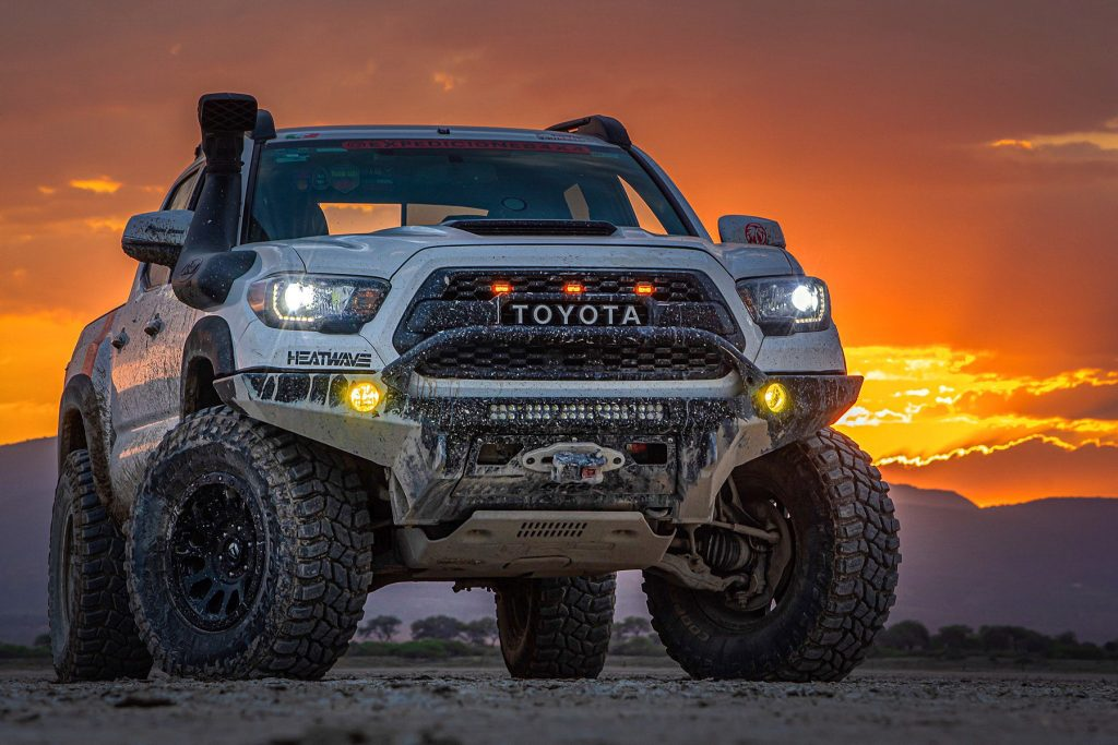 Lifted 3rd Gen TRD Pro Tacoma with CBI Offroad Fabrication Front Bumper & Safari Snorkel