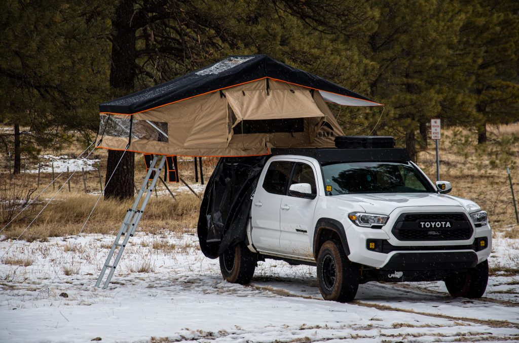 Guana Equipment Wanaka 55 Rooftop Tent on Super White 3rd Gen Tacoma