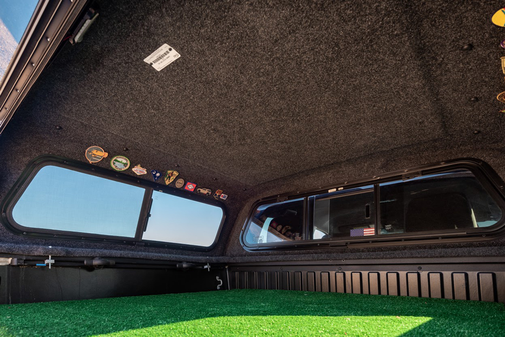 Carpeted Interior - 3rd Gen Toyota Tacoma Leer Camper Shell Topper