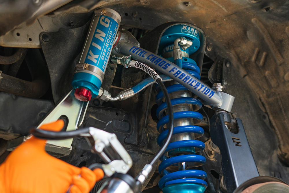 Greasing Toyota Tacoma Total Chaos Upper Control Arms - 3rd Gen Tacoma