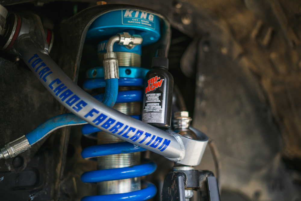 Total Chaos Chromoly Upper Control Arms & King Coilovers with Tri-Flow Dry Lubricant on 3rd Gen Tacoma