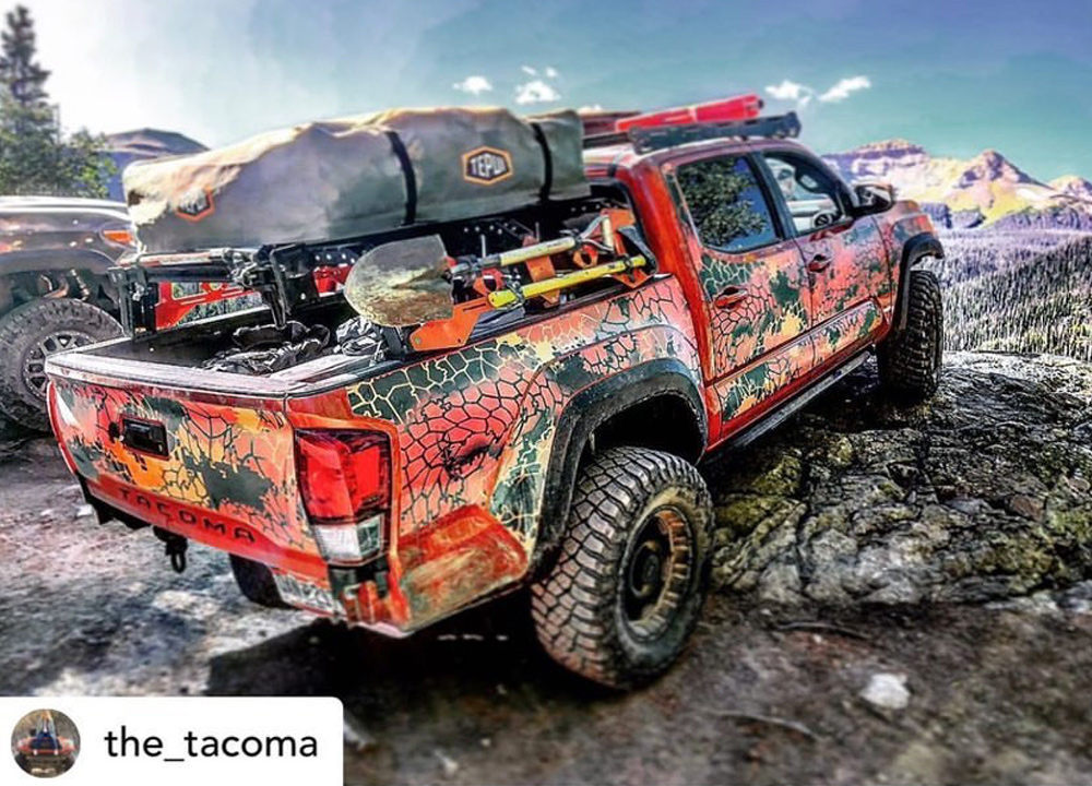 3rd Gen Tacoma with G.O.A.T. Truck Armor and Tepui RTT