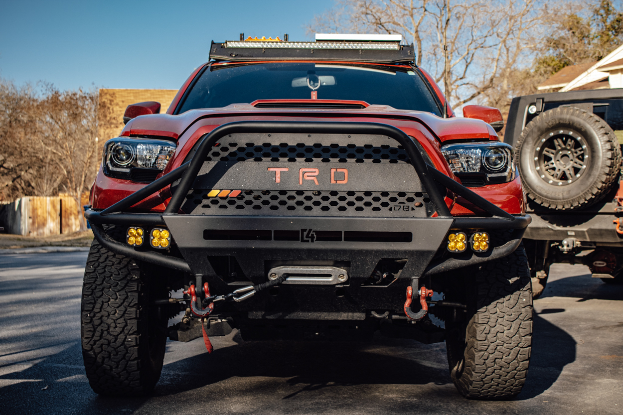 3rd Gen Tacoma with C4 Fabrication Hybrid Front Bumper