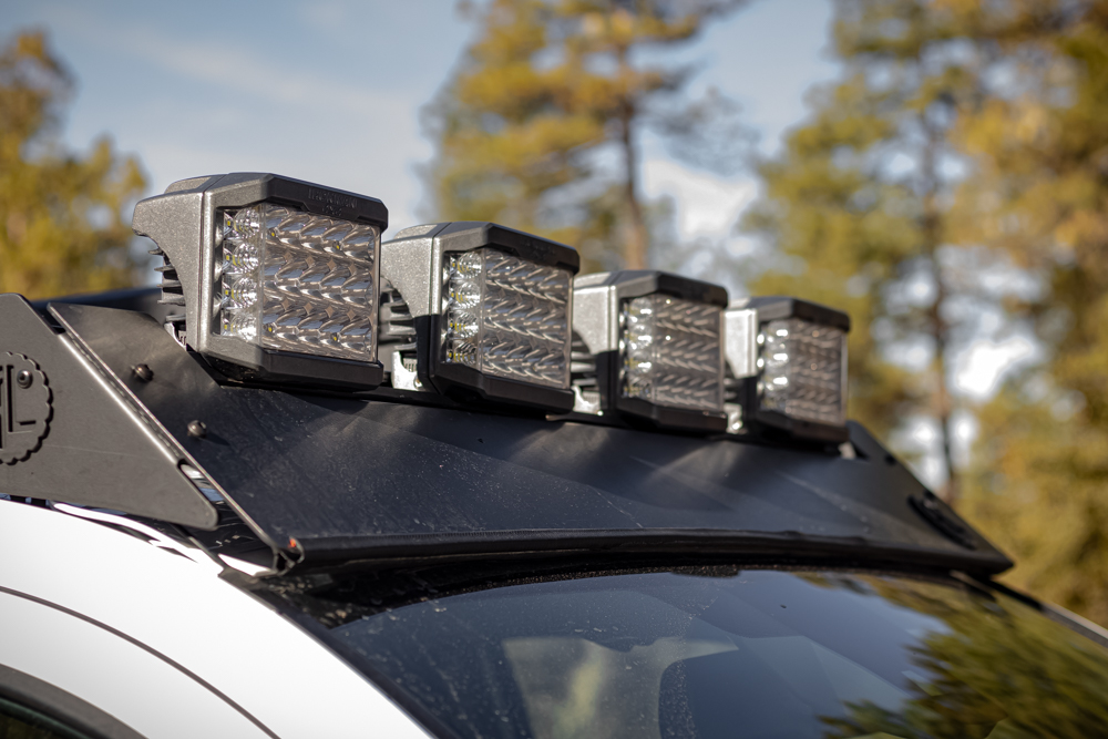 """Ironman 4X4 5""""x7"""" Universal Light Pods on AL Offroad Onyx Roof Rack - Full Review"""