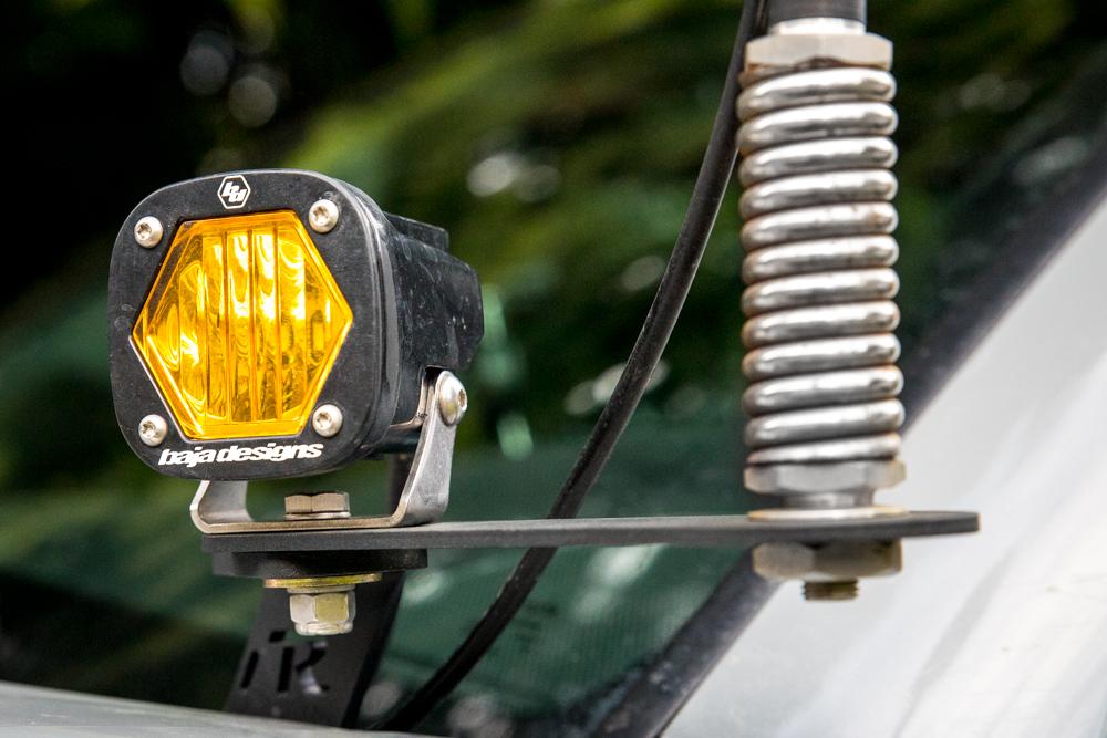 Amber Baja Designs S1 on Rago Fabrication Ditch Light Mount & Antenna