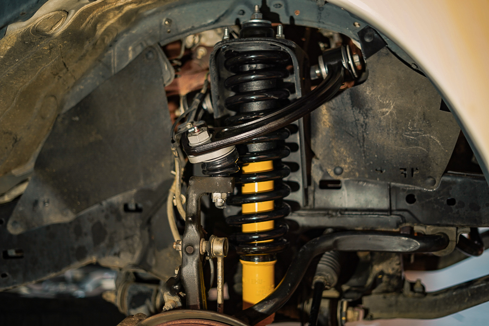 2nd Gen Toyota Tacoma with OME Front Coilover & SPC Upper Control Arm