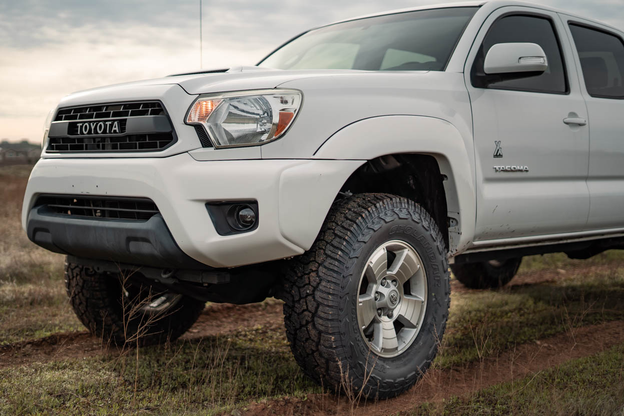 +30 Offset with Factory Wheels on Toyota Tacoma Rubbing on Upper Control Arms
