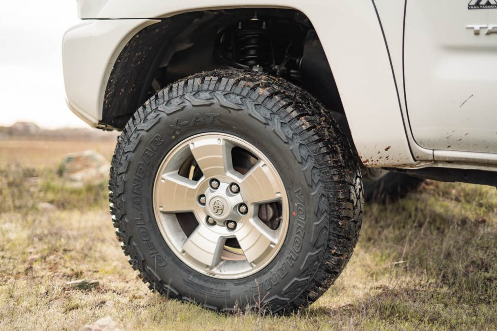 "33"" Tires (285/70R17) All-Terrains (A/T) on Factory 2nd Gen Toyota Tacoma Wheels"