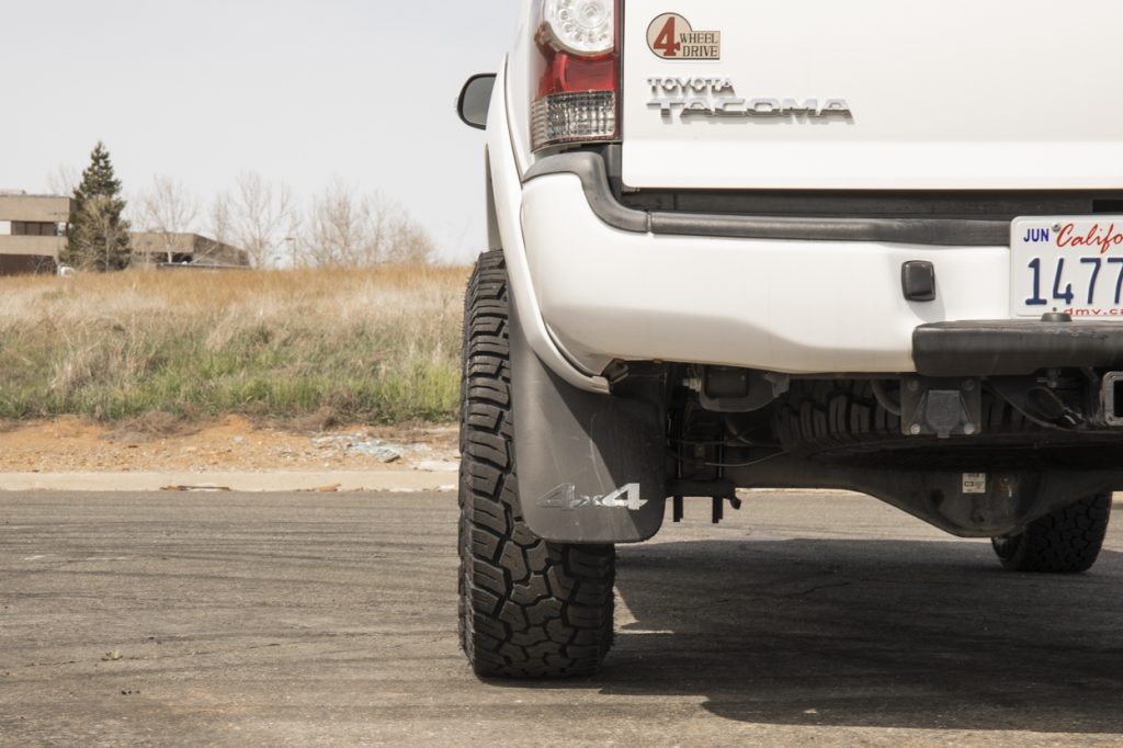 """2nd Gen Super White Toyota Tacoma with 1.25"""" Aluminum G2 Wheel Spacers"""