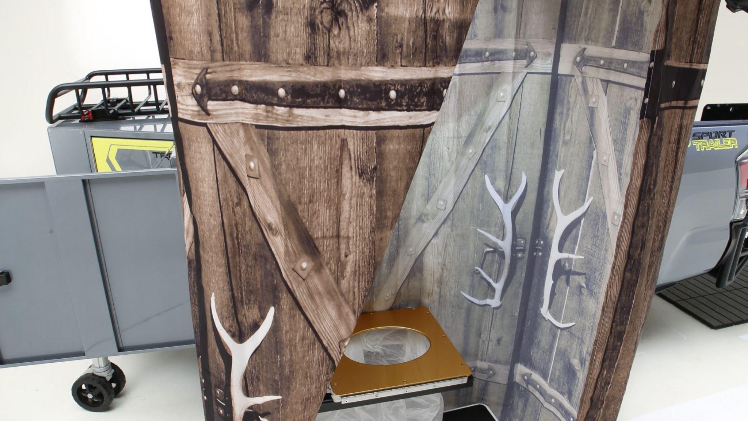 Complete Portable Shower & Toilet on TRD Sport Trailer Concept