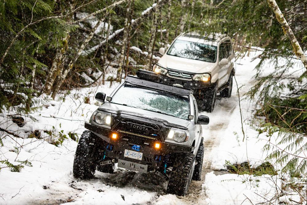 2nd Gen Tacoma & Lexus GX470 Snow Wheeling