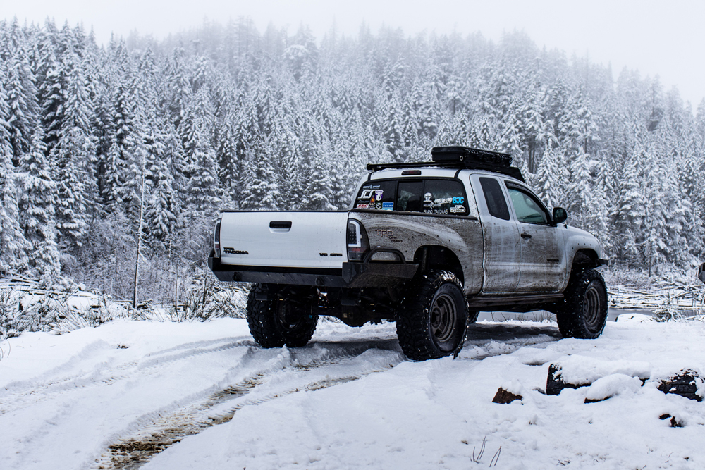 Lifted 2nd Gen Tacoma with Coastal Off-Road High-Clearance Steel Rear Bumper