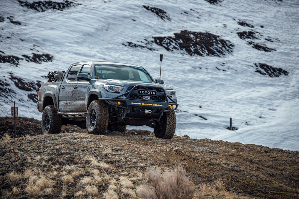 3rd Gen Tacoma with Cell Phone Signal Booster & Off-Road Hybrid Style Front Bumper