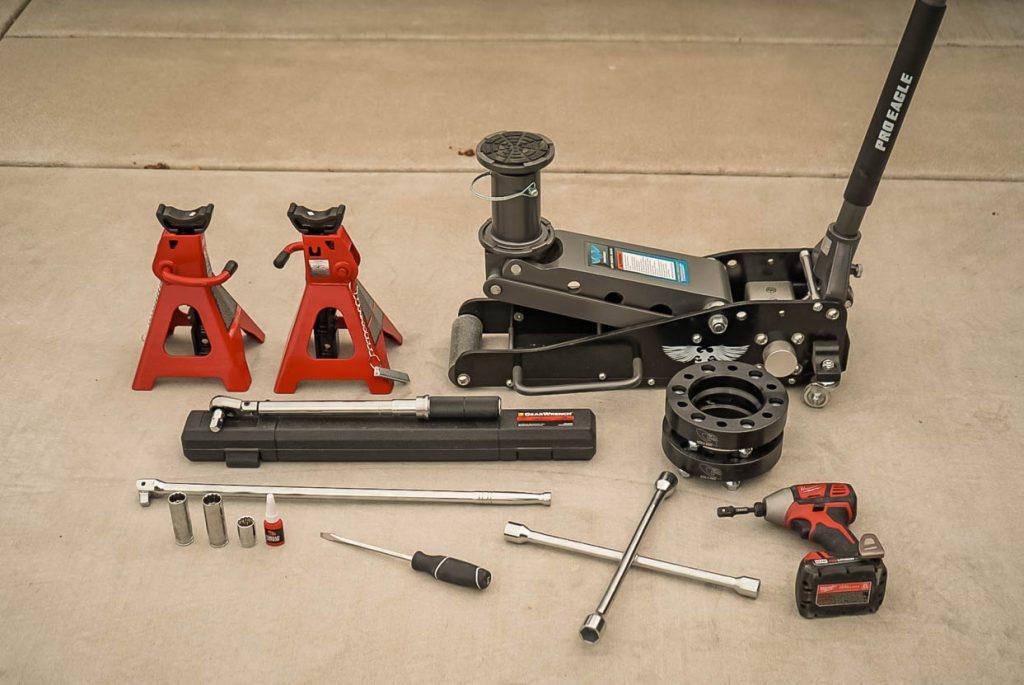 Toyota Tacoma Wheel Spacer Installation Tools