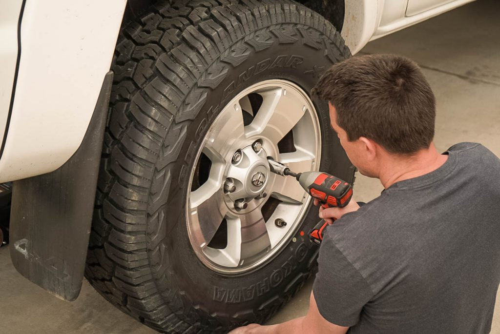 Toyota Tacoma Tire Removal with Milwaukee Impact Driver