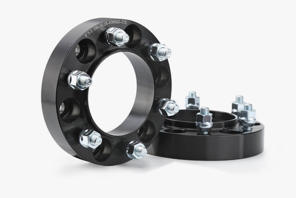 """Forged Black 1.25"""" G2 Gear and Axle Hub Centric Wheel Spacers"""
