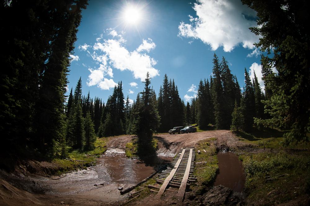 Whipsaw Creek Trail Log Bridge Water Crossing