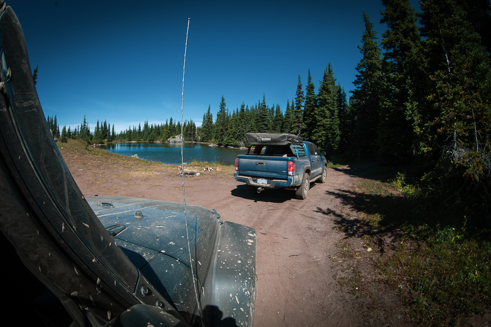 Cavalry Blue 3rd Gen TRD Off-Road Toyota Tacoma with Rooftop Tent