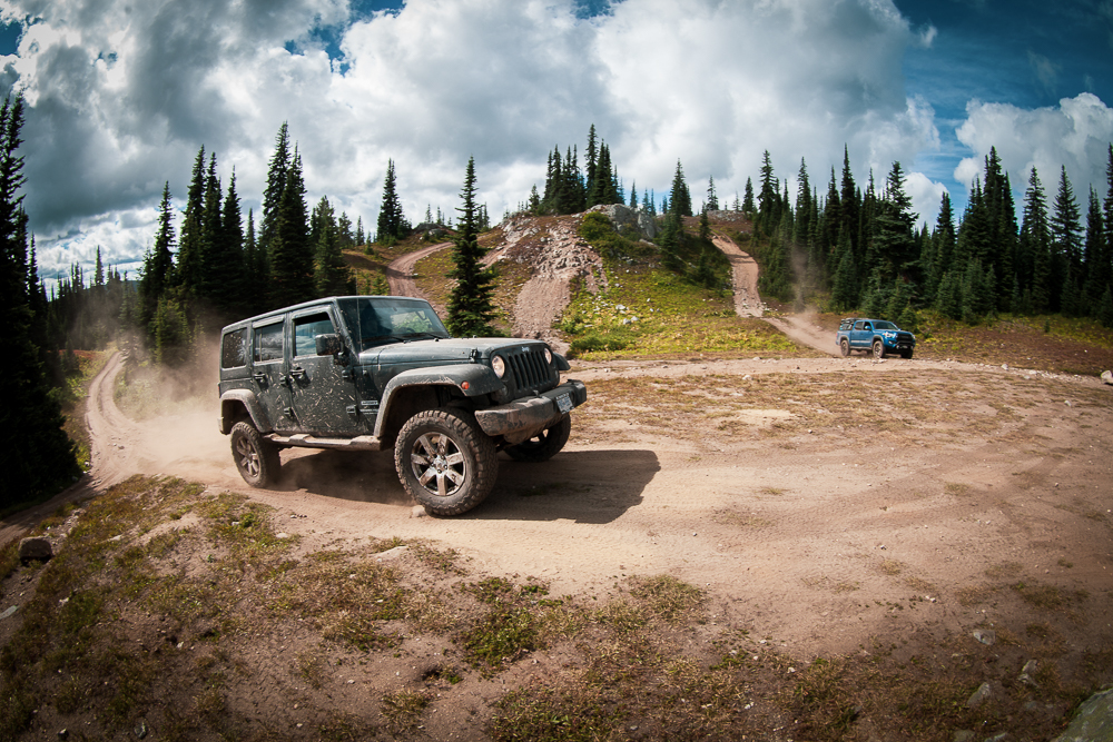 Jeep JK & 3rd Gen Tacoma on Whipsaw Overland & Off-Road Trail in British Columbia