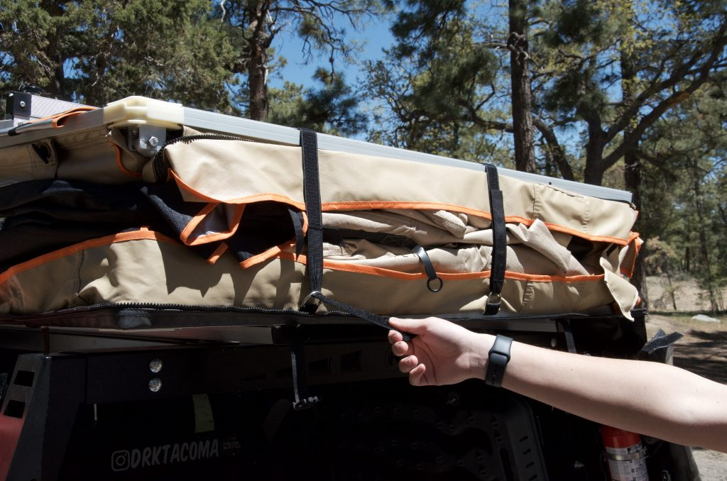 Remove Tent Velcro Straps on Rooftop Tent