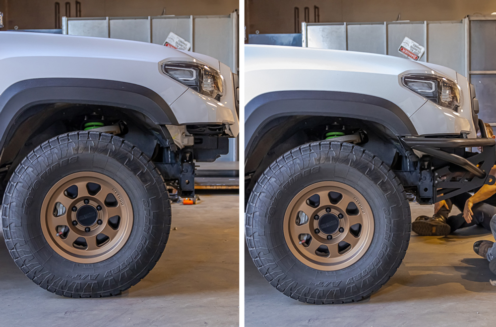 Before & After: Suspension Sag With & Without Aftermarket Steel Front Bumper