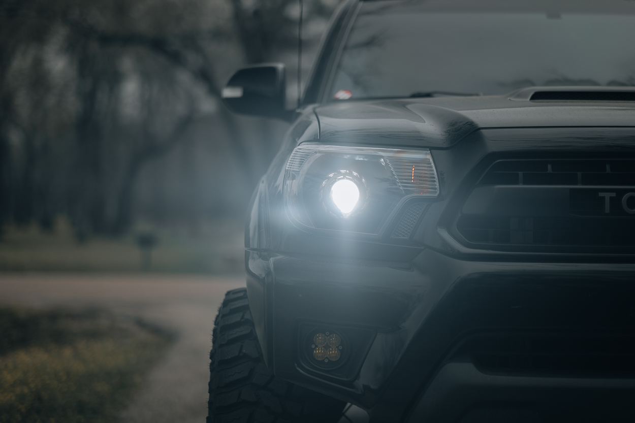 Retrofit Headlights with BXBuilt Bi-LED Projectors on 2nd Gen Tacoma