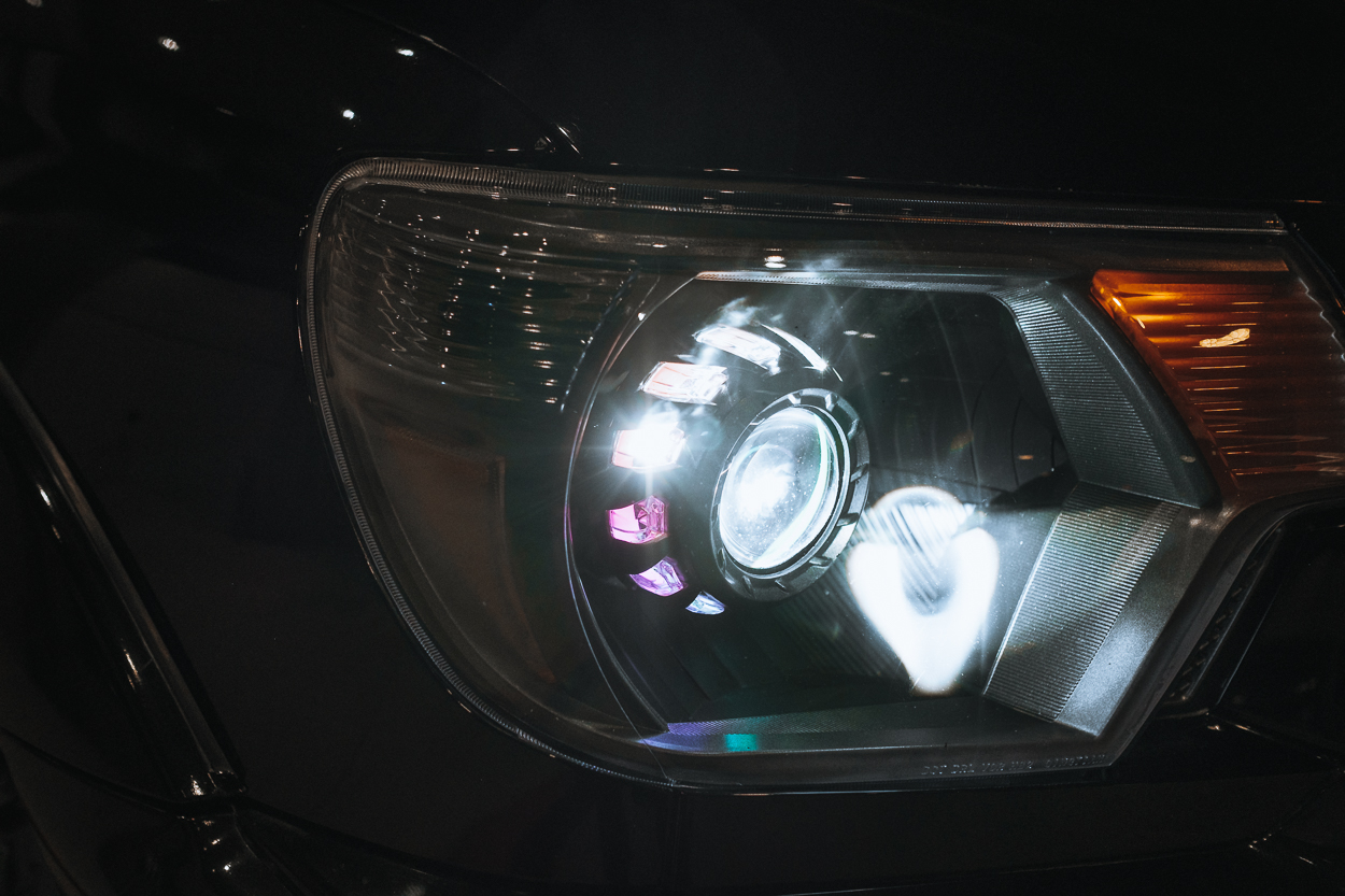TEQ Customs Retrofit Headlights with LED Projector & Turbine Shrouds