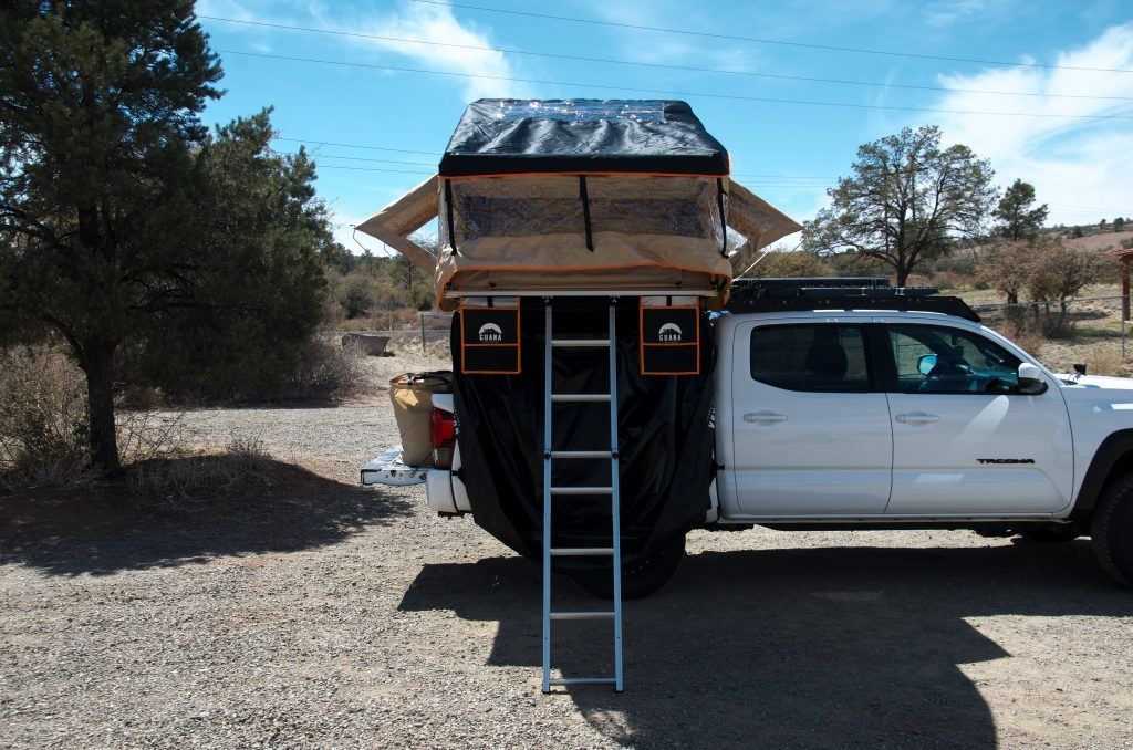 Rooftop Tent Mounted on Bed Rack on 3rd Gen Tacoma